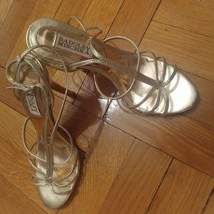 Badgley Mischka Champagne Strappy Evening Sandals
